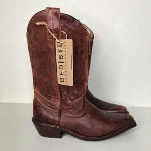 BED STU Cobbler Series Distressed Cowboy Boots